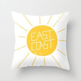 East Coast Sun Throw Pillow