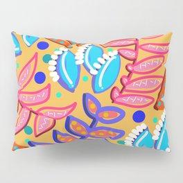 Whimsical Leaves Pattern Pillow Sham