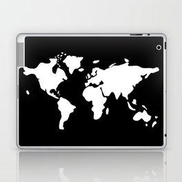 white modern world map Laptop & iPad Skin