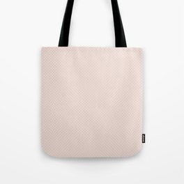 Modern pastel brown white elegant lace pattern Tote Bag