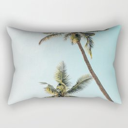 Palm Tree Beach Summer Rectangular Pillow