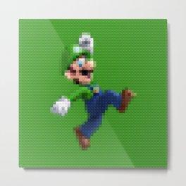 Luigi - Toy Building Bricks Metal Print