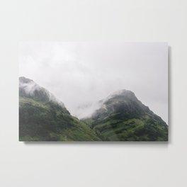 Fog in Glencoe | Scottish Highlands Photography Art Print | Travel Photography Scotland Metal Print