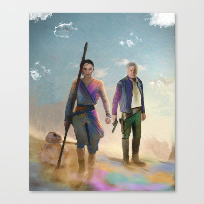 Rey and BB8 Canvas Print