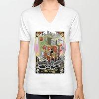 metropolis V-neck T-shirts featuring Metropolis  by KRNago