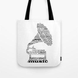 Typographic gramophone Tote Bag