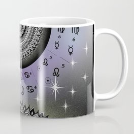 Starry Night Mandala Zodiac Chart Coffee Mug