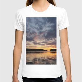 Spring Sunset - beautiful colors and reflections - cloudy sky T-shirt