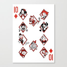 Sawdust Deck: The 10 of Diamonds Canvas Print