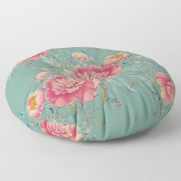 tender gipsy paeonia Floor Pillow