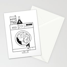 brain washed. heart washed Stationery Cards