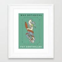 fat Framed Art Prints featuring Fat Controller by Wax Botanical