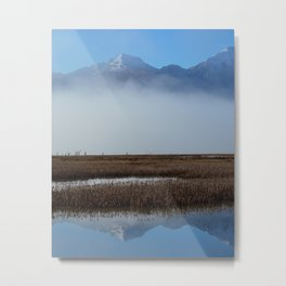 Autumn Mist Reflection Metal Print