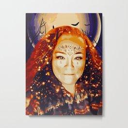 Goddess Morrigan (Painting) Metal Print