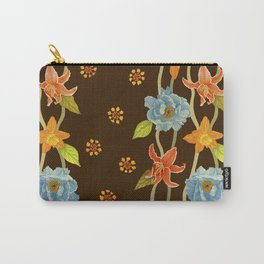 Vintage Flowery Serpentine Carry-All Pouch