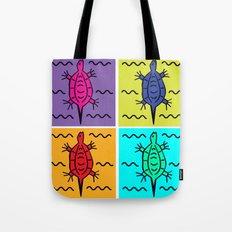 Pop Turtle Tote Bag