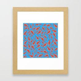 Gone Shrimping (BLUE) Framed Art Print