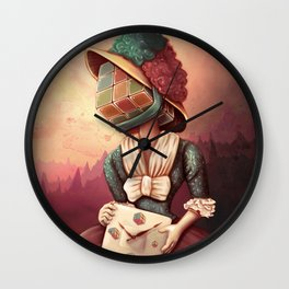 Lady Rubik Wall Clock
