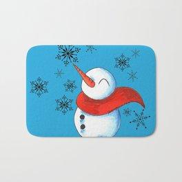 Snowmen and Snowflakes Bath Mat