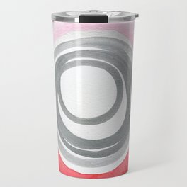 Pink Red Spiral Travel Mug