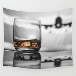 Airport on Ice Wall Tapestry