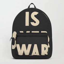 War is over!, if you want it, vintage art, peace, Yoko Ono, Vietnam War, civil rights Backpack