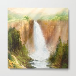 Beyond the Waterfall Metal Print