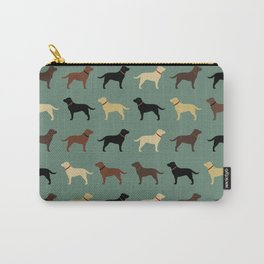 Labrador Retriever Dog Silhouettes Pattern Carry-All Pouch