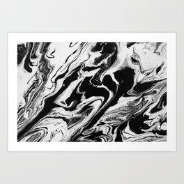BLACK/WHITE RIPPLE 2 Art Print