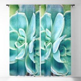 Blue Succulent Blackout Curtain