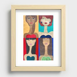 Long Neck Sisters Recessed Framed Print