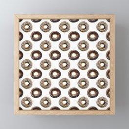 Donut Polka Dot Pattern Framed Mini Art Print