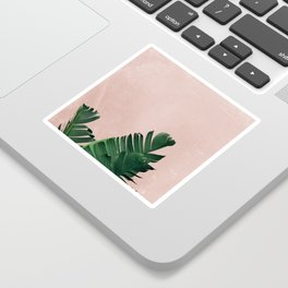 Banana Leaves on Pink Sticker