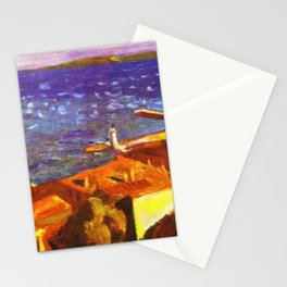 Saint Tropez, French Riviera, Côte d'Azur, France coastal landscape by Pierre Bonnard Stationery Cards