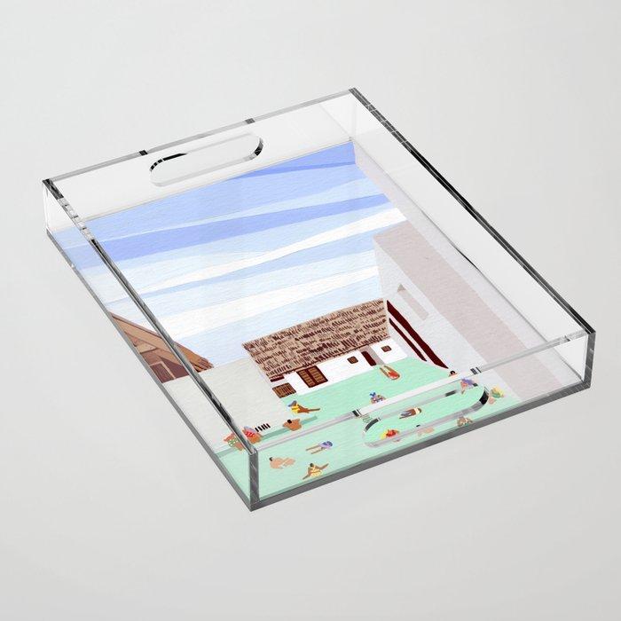 Mexico Pool III Acrylic Tray