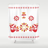 friendship Shower Curtains featuring Friendship by Daneisha