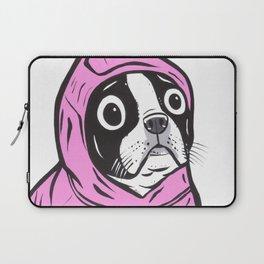 Pink Hoodie Boston Terrier Laptop Sleeve