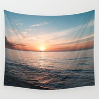 hawaii Wall Tapestries featuring Hawaii sunset by Sylvia Cook Photography
