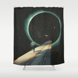 Escaping into the Void Shower Curtain