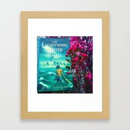 Percy Jackson & the Cherry Blossom Tree Framed Art Print
