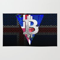 iceland Area & Throw Rugs featuring bitcoin Iceland by seb mcnulty