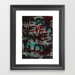 The Devil Never Dances Alone Framed Art Print