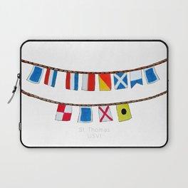 St Thomas Nautical Flags Laptop Sleeve