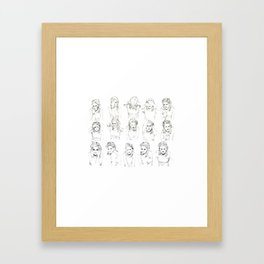 Kristen Stewart Sketches Framed Art Print