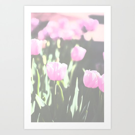 pink land Art Print