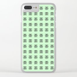 chinese ideogram: the tea 3 Clear iPhone Case