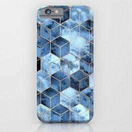 Blue Marble Gradient Cubes iPhone Case