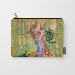 Pink Dragon Carry-All Pouch