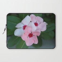 Blooming Beautiful Pink Impatiens Flowers Laptop Sleeve