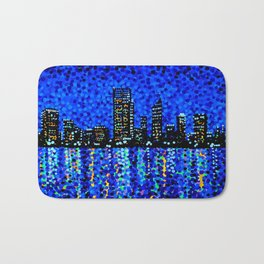 Perth Evening Blues Bath Mat